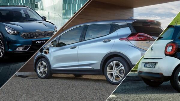 Kia Niro, Chevrolet Bolt y Smart ForFour