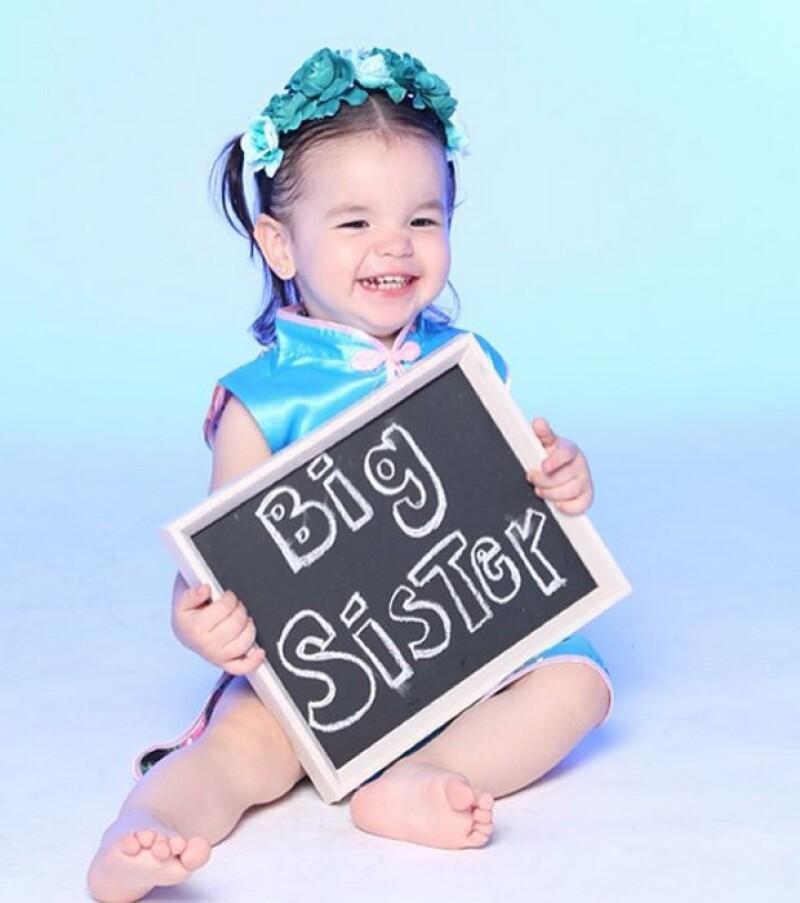 """""""The Big Sister"""", así ha nombrado a su primogénita Regina en sus redes sociales."""