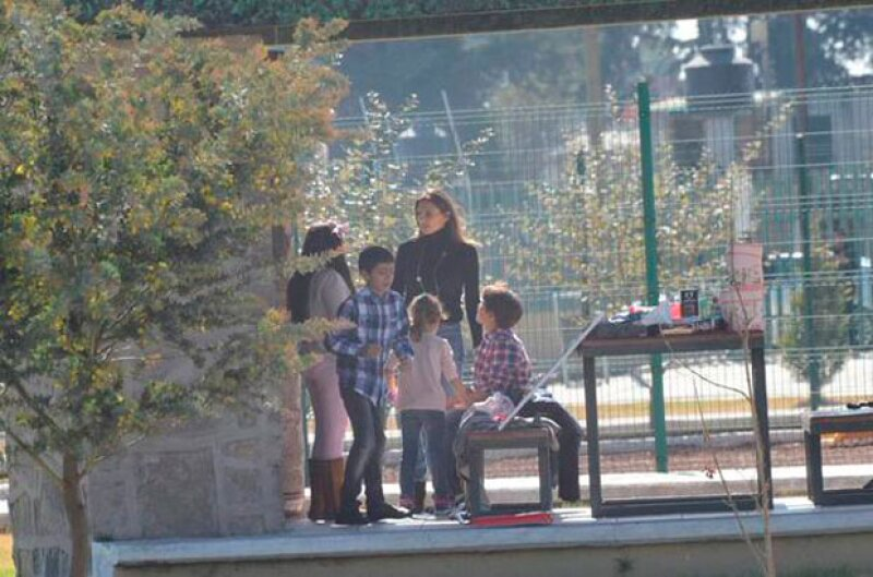 Maude publicó una fotografía del encuentro que tuvo con sus hijos.