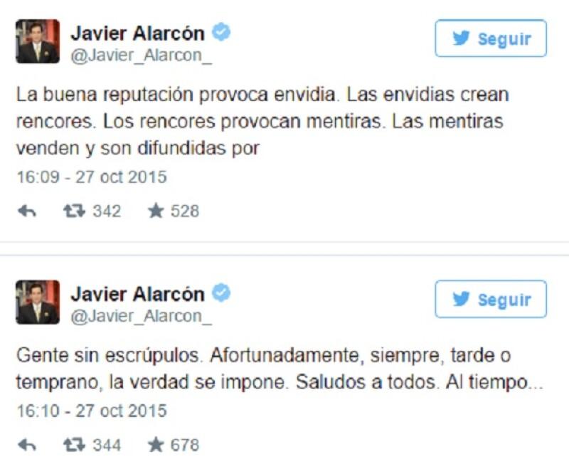 En un par de tuits el comentarista deportivo habló sobre los chismes que comenzaron a circular en torno a su salida de Televisa luego la publicación de una revista de espectáculos de ciculación nacional.
