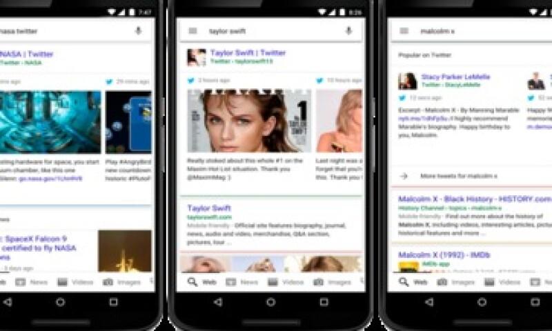 La actualización ya se encuentra disponible en la versión en inglés de Google.com (Foto: Twitter/Google )