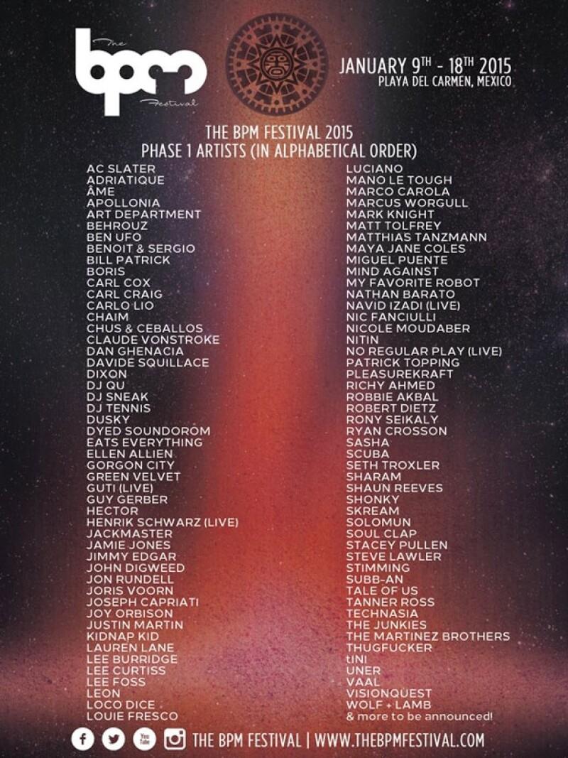 Por octavo año se realizará en Playa del Carmen, uno de los festivales de música electrónica más importantes del México, y han dado a conocer los primeros Dj&#39s que se presentarán en enero de 2015.