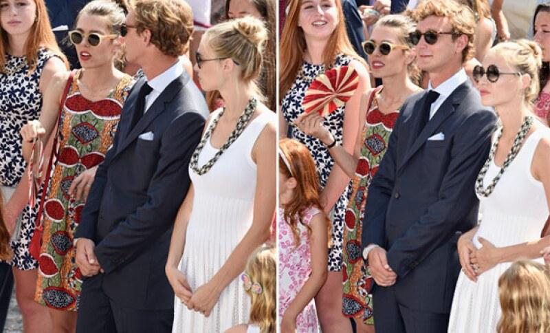 A unos meses de llegar al altar, la prometida del hijo menor de Carolina de Mónaco ha dado de qué hablar con un ligero ademán que hizo durante la celebración del príncipe Alberto.