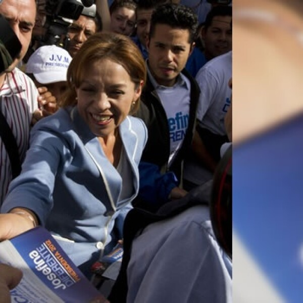 La candidata josefina vazquez mota realizó un volanteo en la caseta de la carretera mexico-cuernavaca