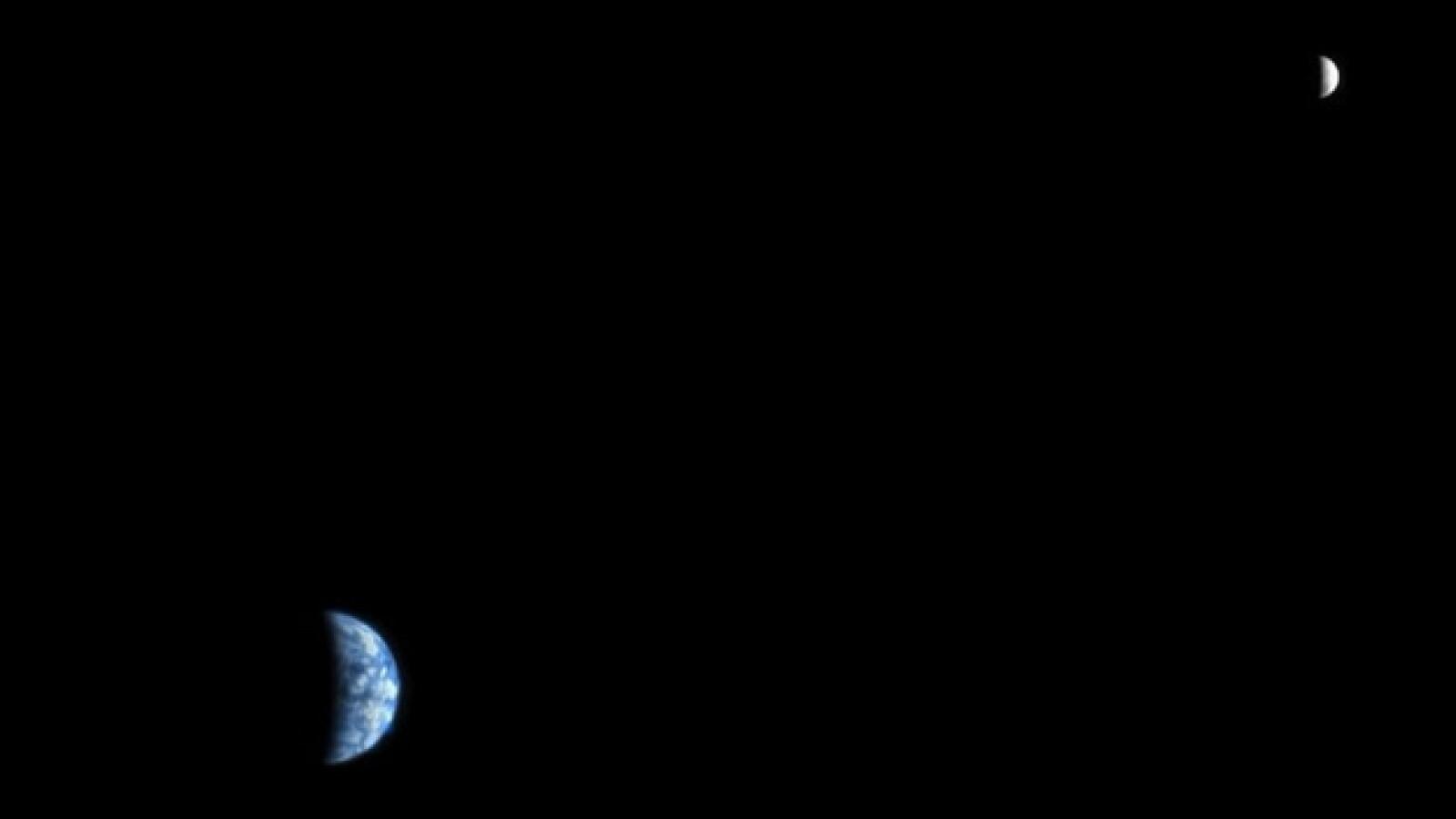 Marte, Mars Tierra Luna desde Mars Reconaissance Orbiter
