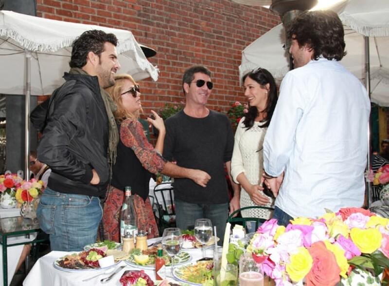 Pau Rubio y su novio Gerardo Bazúa se encontraron a Simon Cowell y Lauren Silverman.