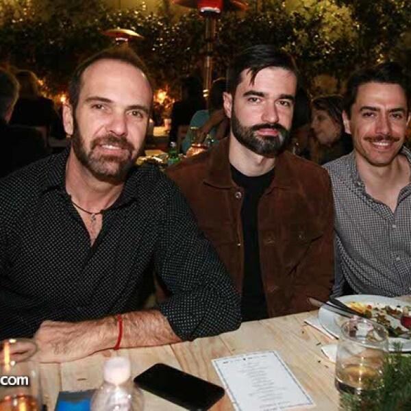 Luis Barranechea,Alejandro Velo y Álvaro Rangel