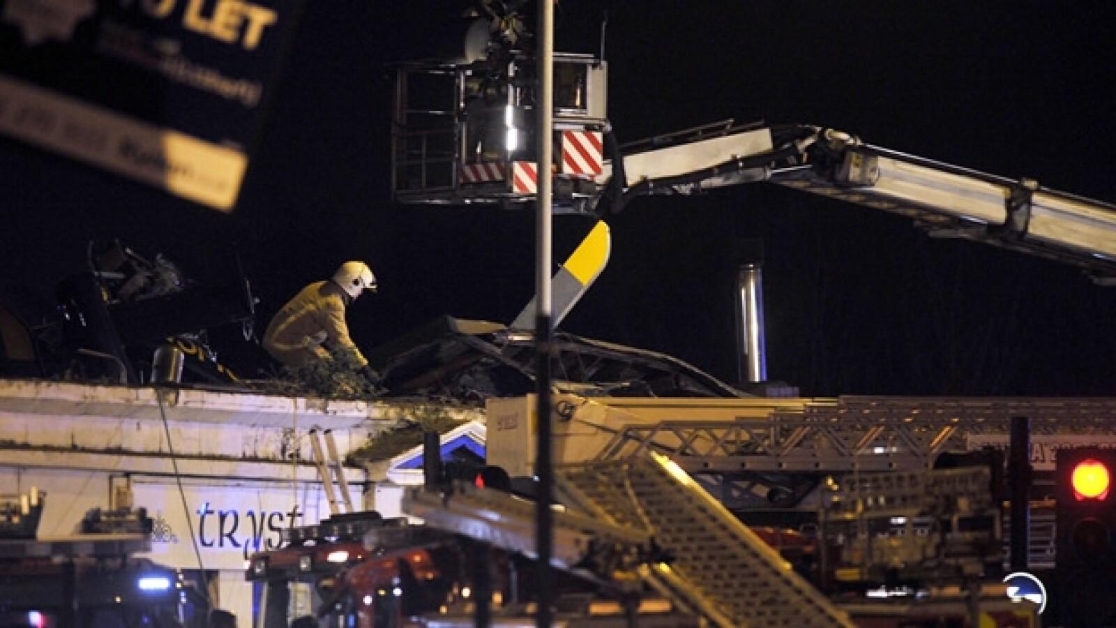 helicoptero accidente Glasgow