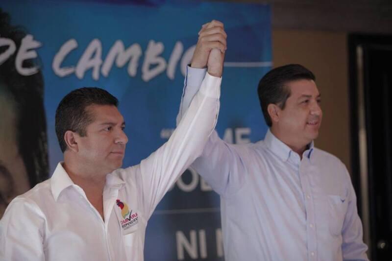 Los candidatos anunciaron su decisión en conferencia conjunta ofrecida en Tamaulipas.