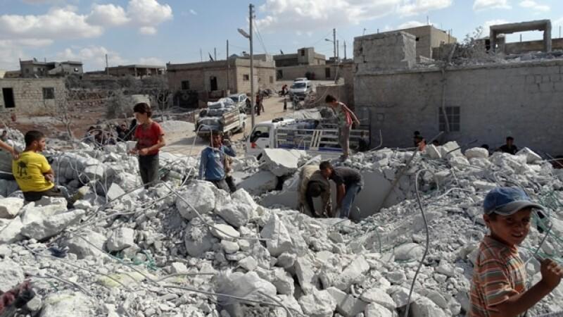 Siria, Aleppo, ataques de EU VS Khorasanm