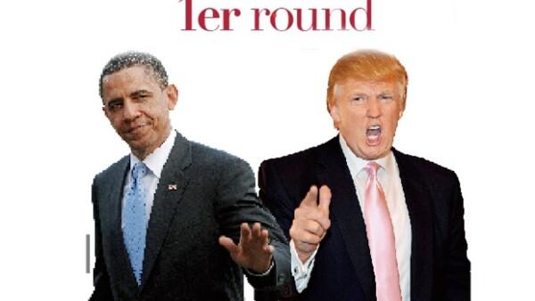 El presidente de Estados Unidos, demócrata, y el famoso empresario, posible candidato republicano, se enfrascaron en una pelea de desacreditaciones en su lucha por ocupar la Casa Blanca en 2012.