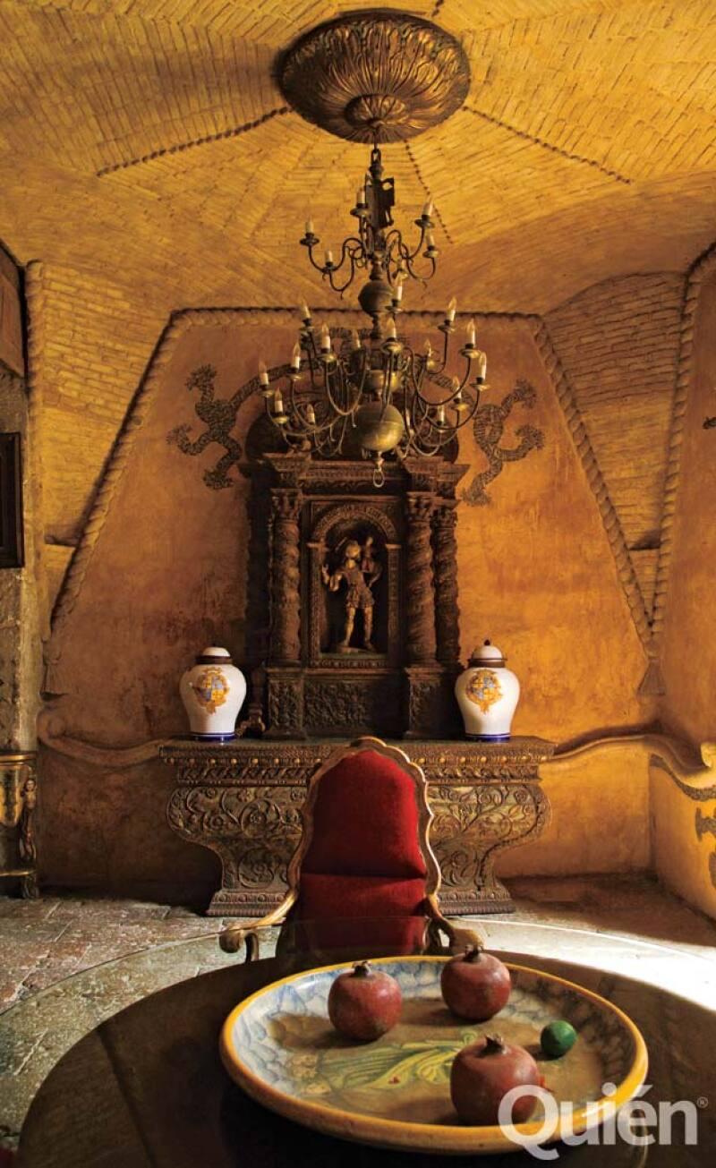 San Miguel Arcangel tiene su altar en la hacienda.