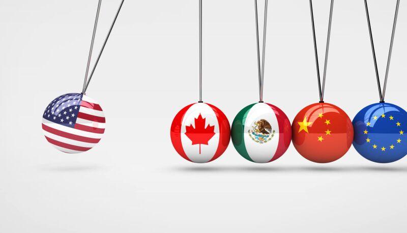 deficit comercial china mexico estados unidos banderas
