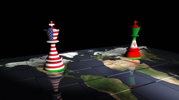 USA and Iran Chess Standoff