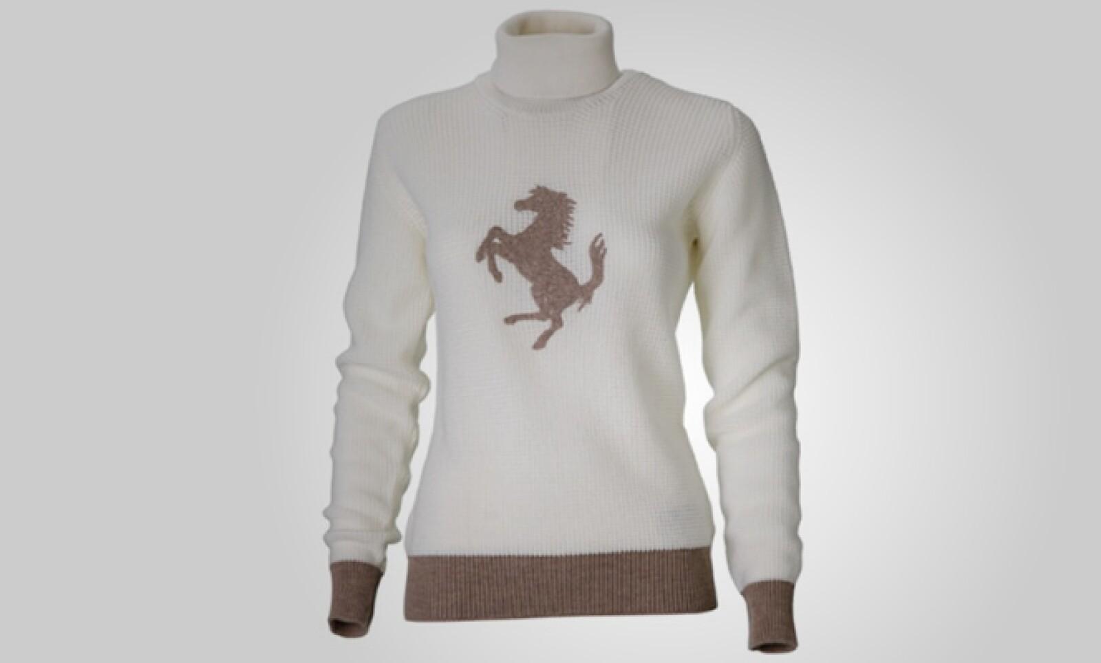 Las mujeres también quieren un poco de adrenalina. Este sweater clásico, estilo jumper, es ideal para contrarrestar una fría mañana. Precio: 227 dólares.
