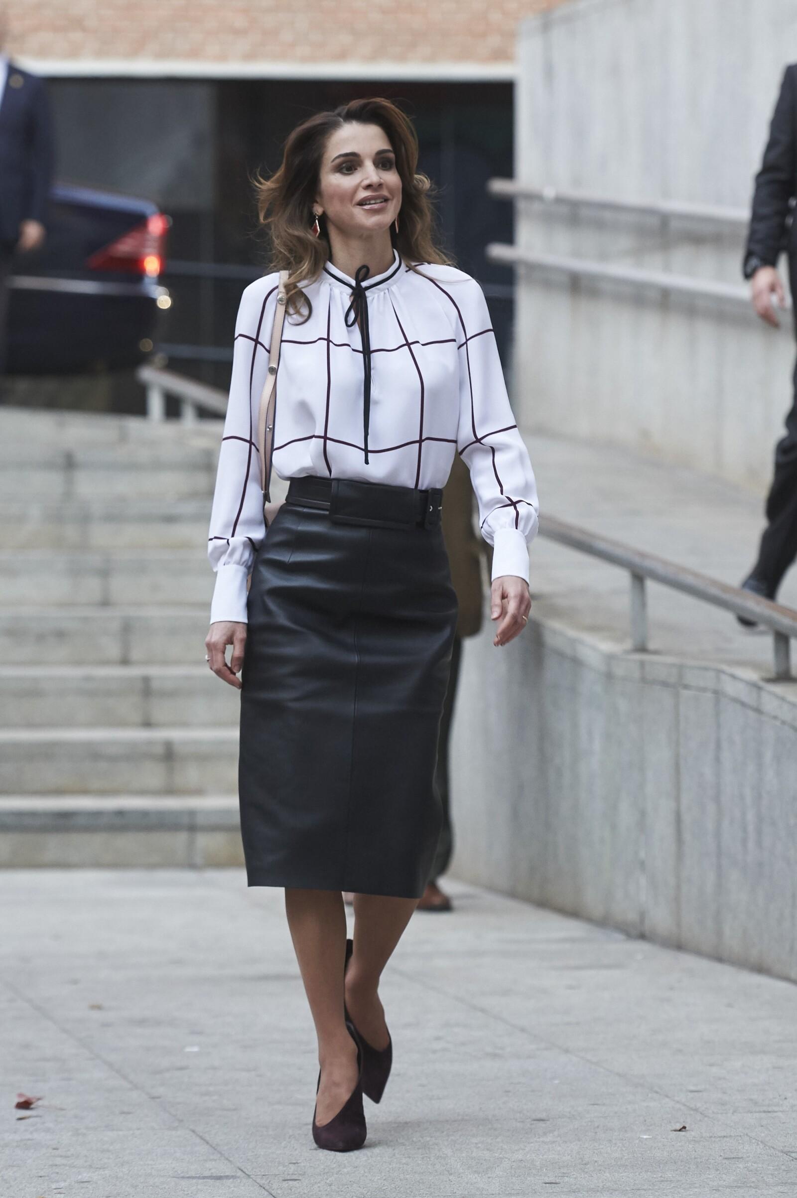 Queen Rania Of Jordan Visits Prado Media Lab