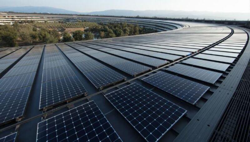 paneles solares apple