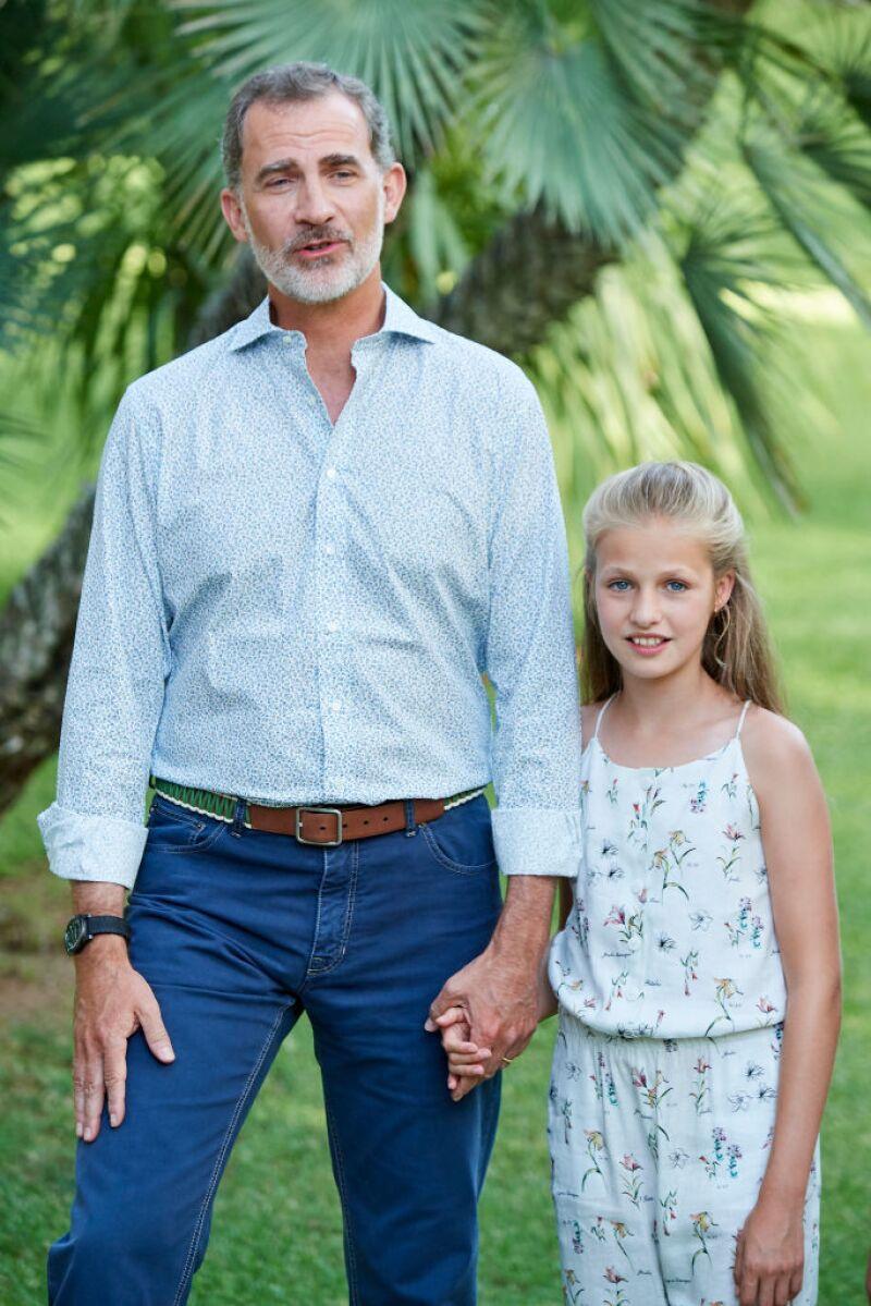 Rey Felipe VI y la princesa Leonor