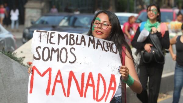 Marcha feminista con motivo del Día Internacional de la Mujer