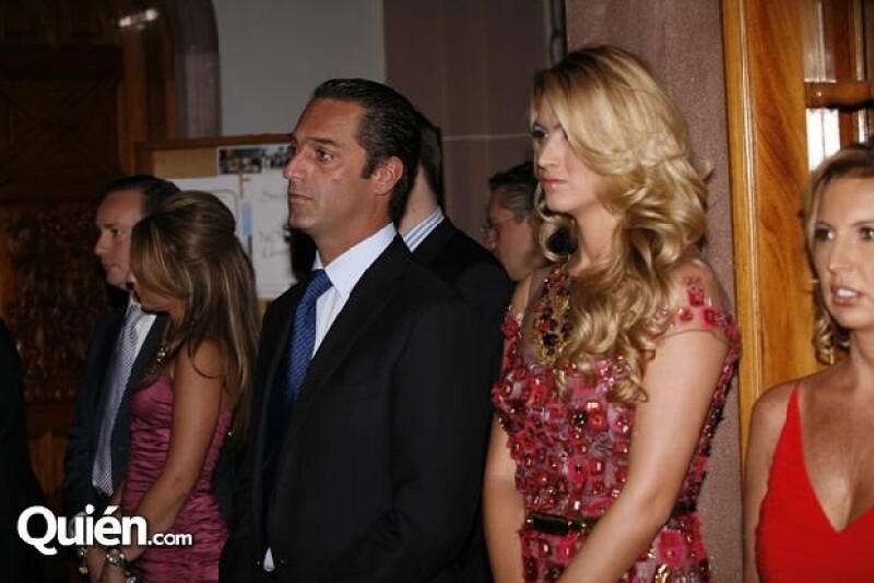Carlos Slim Domit asistió a la boda de Renné Hajj acompañado de María Elena Torruco, con quien se casará el próximo fin de semana.