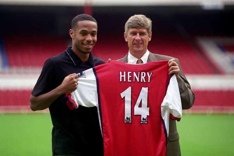 Arsene Wenger Thierry Henry Arsenal