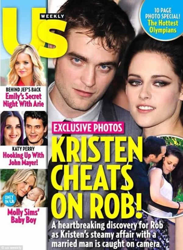 Esta es la portada de Us Weekly donde se destapó la infidelidad.