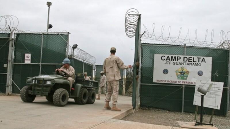 Entrada al campo Delta en Guantanamo