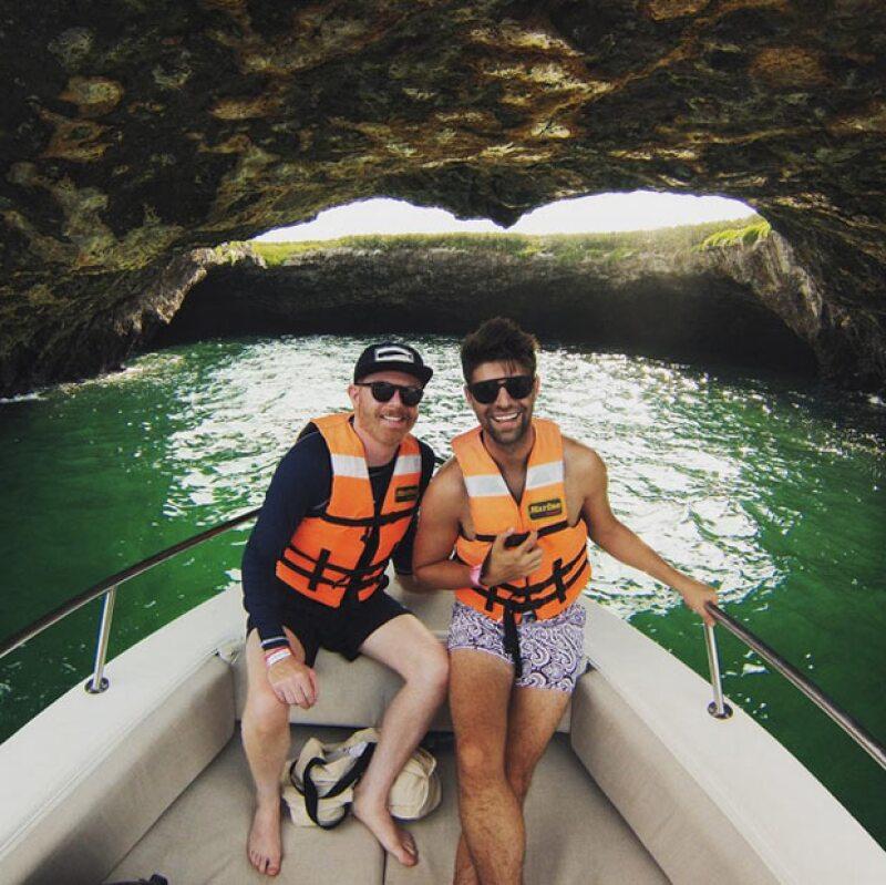 Las islas Marietas fue un destino al que la pareja de actores no podía faltar.
