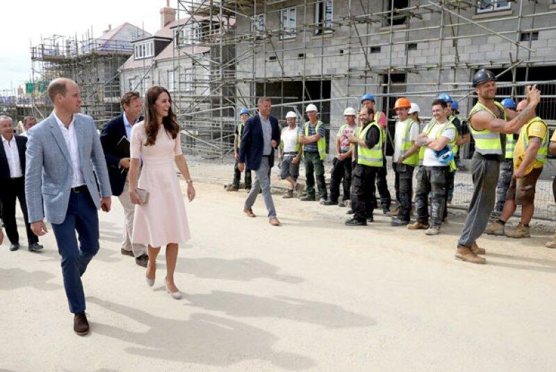 Kate y Will visitaron algunas construcciones de la ciudad de Truro en Cornwall.