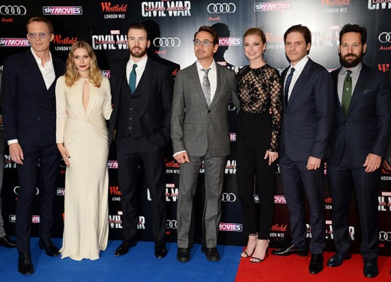 Paul Bettany, Elizabeth Olsen, Chris Evans, Robert Downey Jr., Emily Vancamp, Daniel Bruhl y Paul Rudd asistieron a la premiere de la nueva entrega de Captain America.
