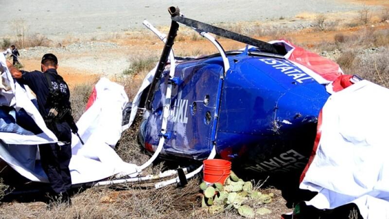 accidente de helicoptero en zacatecas