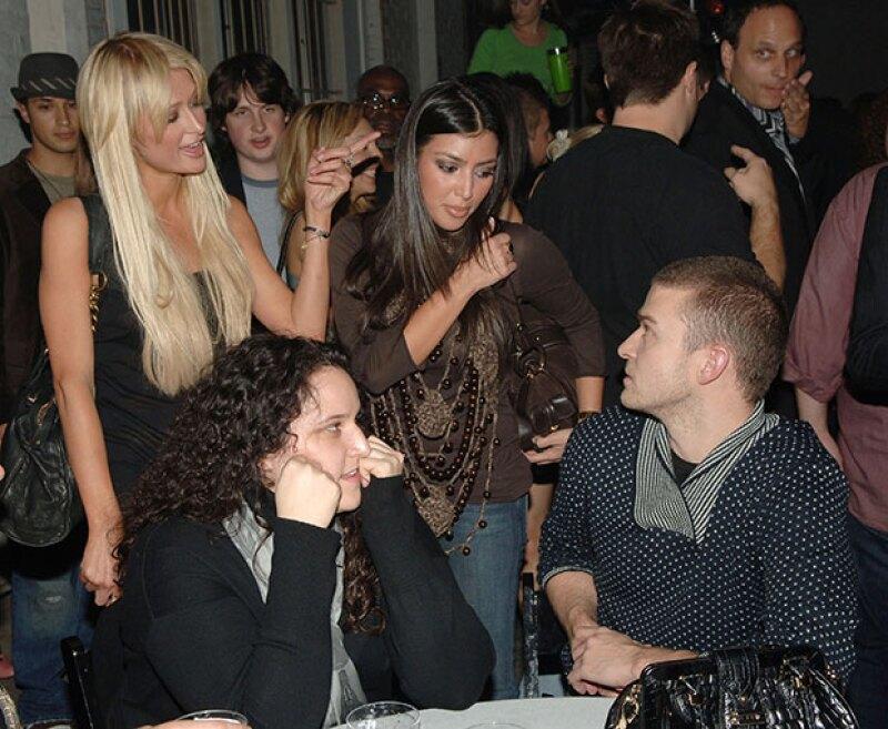 Kim conociendo a Justin Timberlake, gracias a Paris.