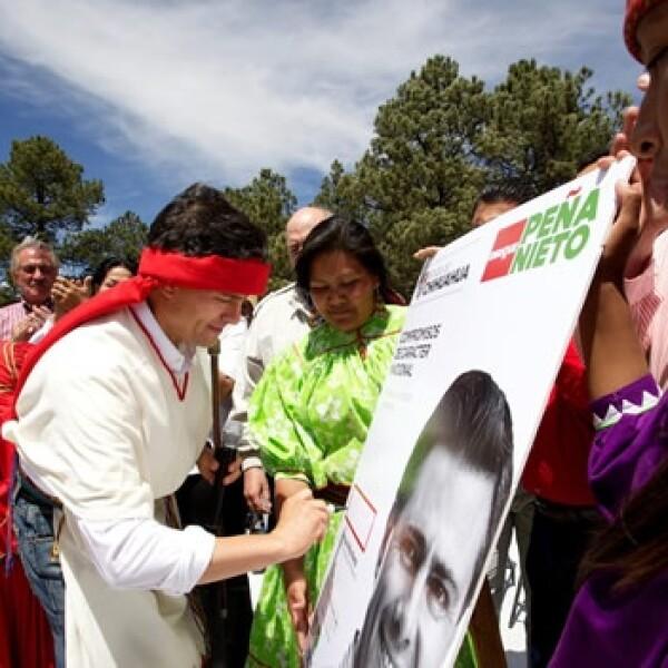 Enrique Peña Nieto en Guachochi, Chihuahua