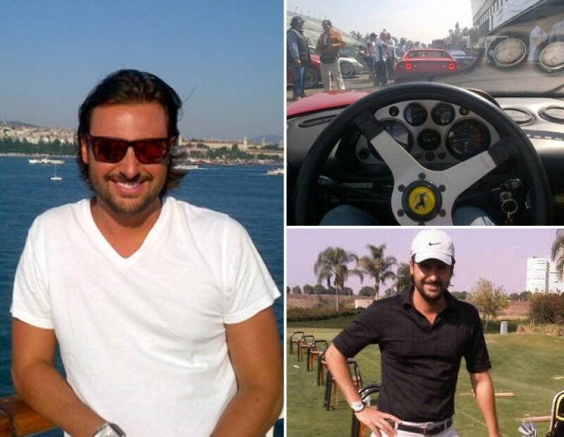 A Alberto Ruiz de Teresa le encanta el golf, pero también tiene un lado rudo, de vez en cuando, corre autos.
