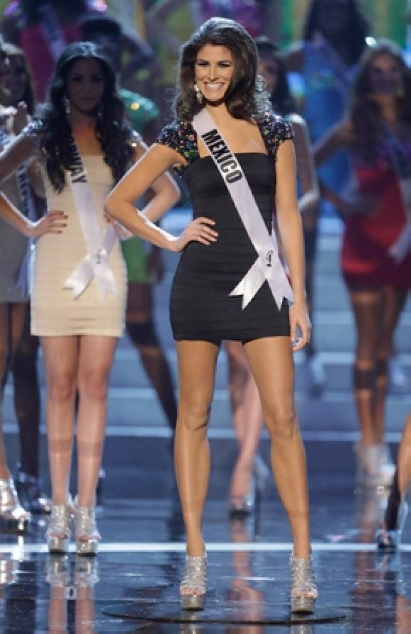 Karina González, originaria de Aguascalientes, luego de la prueba en traje de baño, logró colocarse entre las diez finalistas.