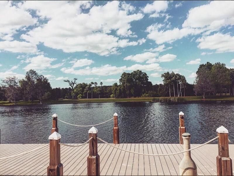 Erik compartió esta foto de Orlando, donde vacaciona junto a su familia.