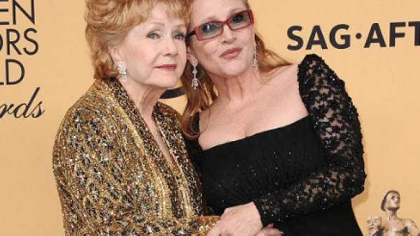 Debbie Reynolds and Carrie Fisher at The Shrine Auditorium