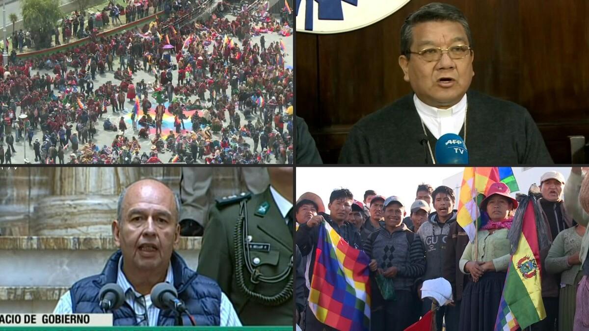 La Iglesia católica, la Unión Europea y la ONU llaman a diálogo en Bolivia - Expansión