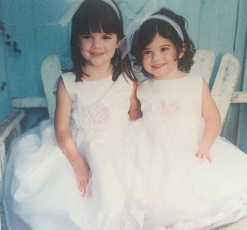 Kendall y Kylie cuando eran pequeñas.