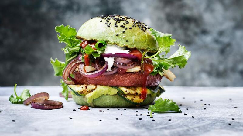 Hamburguesa 100% vegana.
