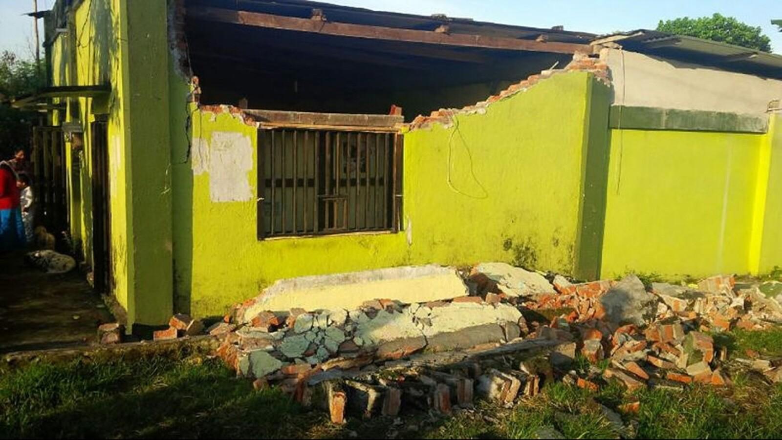 El movimiento sacudió varios hogares en Chiapas, frontera sur con Guatemala
