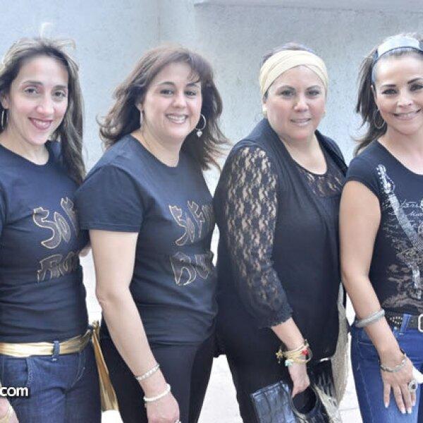 Maricruz de Garza, Nancy de Carrera, Irma de Ocampo y Maru de Rivera