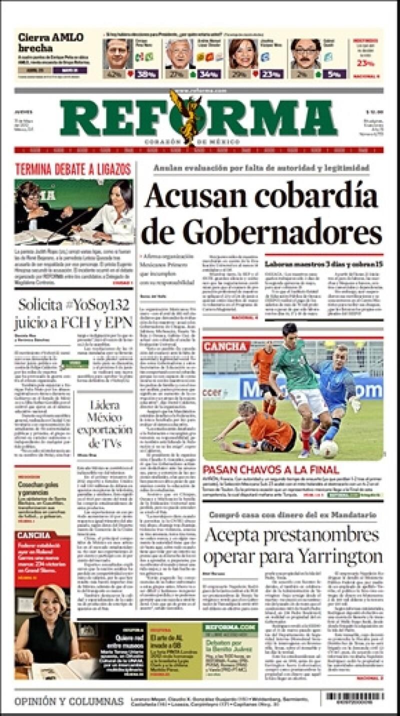 En época de elecciones la política acapara los medios; #YoSoy132 solicitó juicio a Felipe Calderón y a Peña Nieto. Entérate de esto y más.