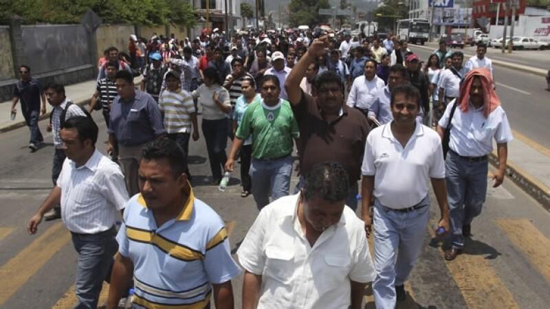 Maestros protestan en Oaxaca