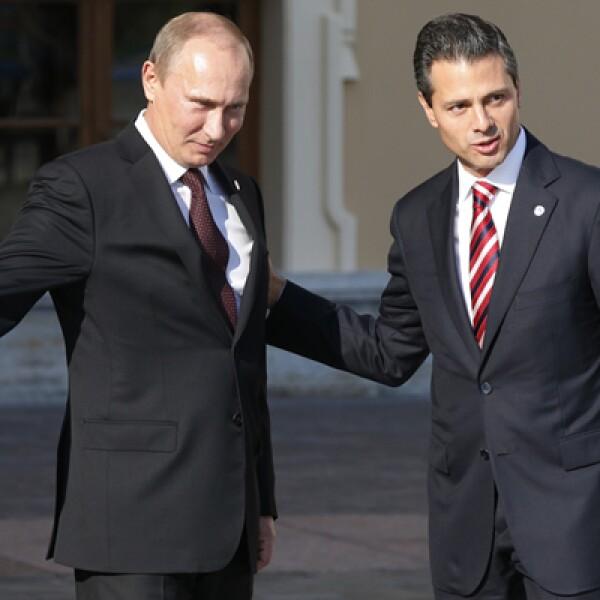 El presidente mexicano, Enrique Peña Nieto participó en la discusión sobre crecimiento y economía global.
