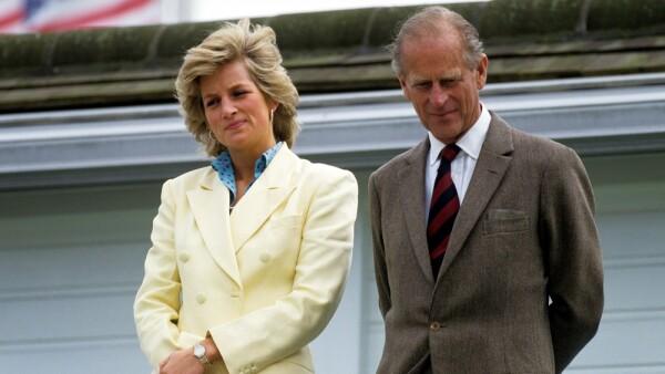 Lady Di y el duque de Edimburgo