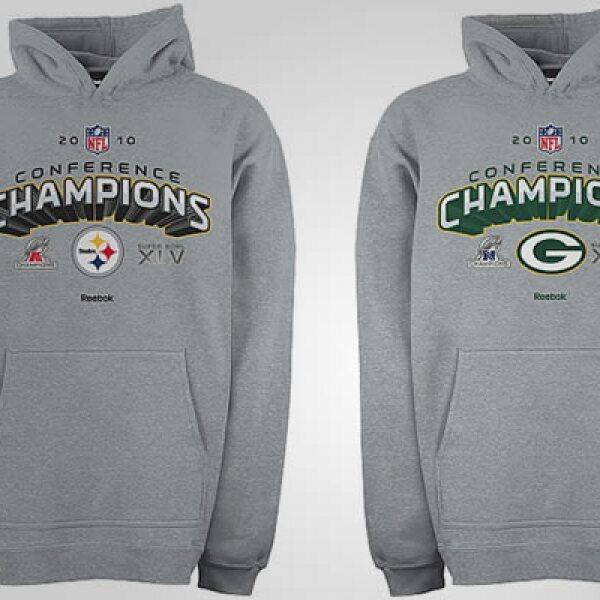 Además del 'jersey' te proponemos una chamarra con los logos de los equipos, y con material resistente al frío. Precio: 39 dólares