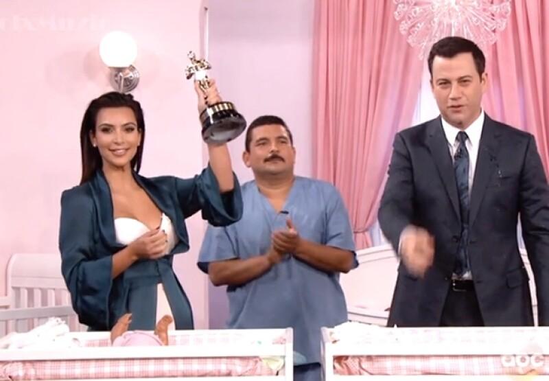 La más polémica del clan Kardashian se queja de su peso actual un día después de ser invitada al `Jimmy Kimmel Live show´, donde demostró sus habilidades como mamá.