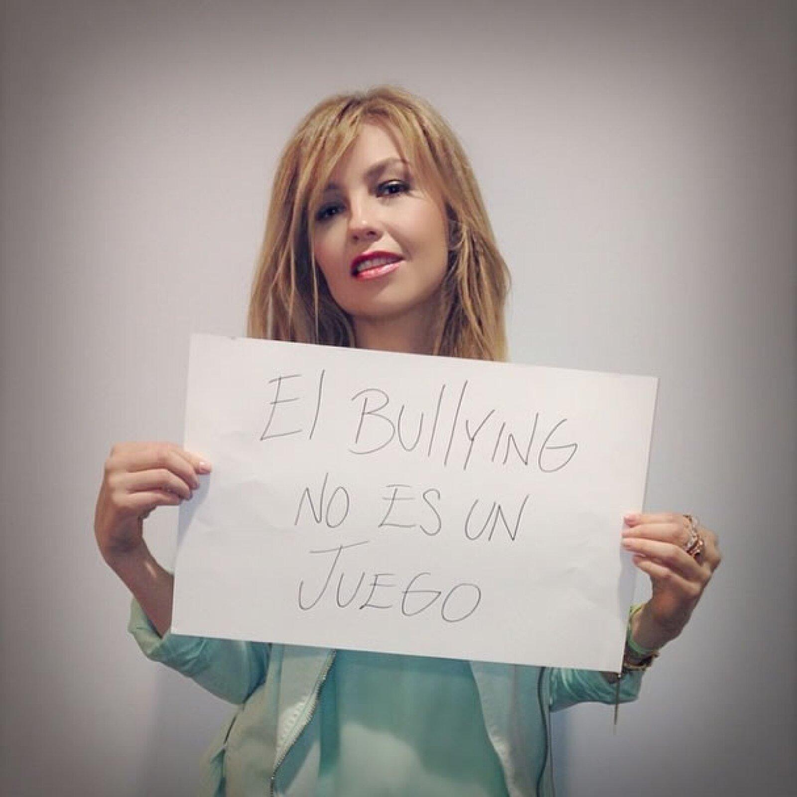 Thalía junto con Yolanda Andrade fueron las personalidades que más han apoyado la campaña, animando a otros famosos a unirse por la causa.