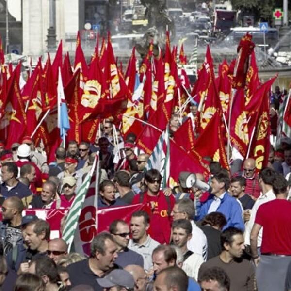 Manifestacion en Italia